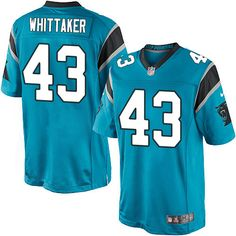 Youth Nike Carolina Panthers #43 Fozzy Whittaker Limited Blue Alternate NFL Jersey