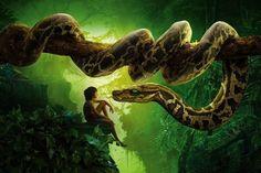The Jungle Book, snake kaa, mowgli, Best movies of 2016 The Jungle Book, Jungle Book Hindi, Jungle Book Snake, Jungle Book 2016, 1440x2560 Wallpaper, Widescreen Wallpaper, Wallpaper Jungle, Snake Wallpaper, Wallpaper Paste
