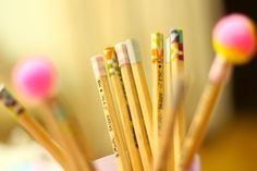 Craft with Washi Tape: Pencils and Book Signs