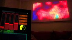 Aurora LED wall controlled by an iPad. Awesome!