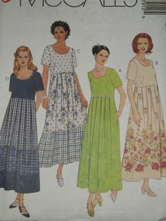 McCALL'S # 8791 - LADIES WONDERFUL PULLOVER FRONT PLEATED DRESS PATTERN XS-M uc #McCALLS