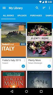 Google Play Livros: miniatura da captura de tela