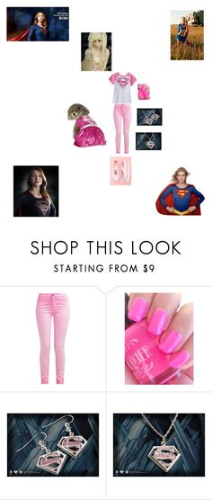 """""""Supergirl fan outfit"""" by sciencesnanzy ❤ liked on Polyvore featuring Vans"""