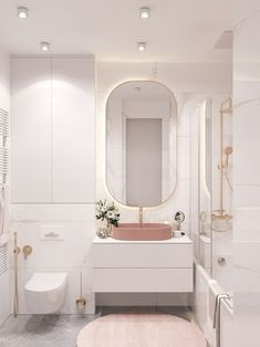 Small Bathroom 606156431083970744 - Moscow project Plan A on Behance Source by salledebaine Bathroom Design Luxury, Bathroom Design Small, Bathroom Layout, Home Interior Design, Bathroom Ideas, Bathroom Organization, Bathroom Furniture, Bathroom Tower, Pink Bathroom Interior