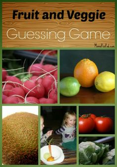Fruit & Veg Guessing Game: A fun way to develop sensory learning, logical reasoning, and vocabulary development! With variations for older and younger kids. Preschool Food, Preschool Curriculum, Toddler Preschool, Preschool Classroom, Classroom Ideas, Sensory Activities, Toddler Activities, Preschool Activities, Spring Activities