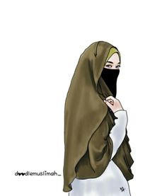 Gambar Kartun Muslimah Bercadar Malu Kartun Muslim Pinterest