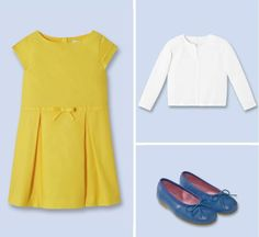Lots of Easter outfit ideas for girls on sale. Love all the primary colors instead of pastels!