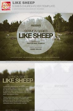 Like Sheep Church Flyer Invite Template