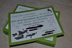Peter Pan Silhouette Birthday Invitation by SJPInvitations on Etsy