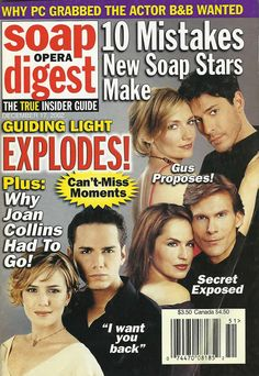 classicsodcovers:  Classic SOD Cover Date: December 17, 2002 Nancy St. Alban & Paul Anthony Stewart (Michelle & Danny, GUIDING LIGHT)Crystal Chappell & Grant Aleksander (Olivia & Phillip, GUIDING LIGHT)Beth Ehlers & Ricky Paull Goldin (Harley & Gus, GUIDING LIGHT)