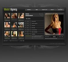 Model Agency Flash Templates by Vampire Fashion Wordpress Theme, Flash Templates, Model Agency, Website Template