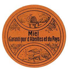 Vintage French Honey Label