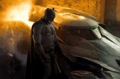 Affleck Batman and Batmobile