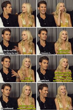 Tvd - Paul Wesley and Candice Accola - Did you guys ever think that [Stefan and Caroline] might become something?
