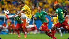 Brasil, por la magia de Neymar  Con un doblete de Neymar y un partidazo de Fernandinho, Brasil goleó 4-1 a Camerún y se clasificó primero del Grupo A de la Copa Mundial de la FIFA Brasil 2014™, por lo que se medirá en octavos de final a Chile. El partido se jugó el lunes 23 de junio en el Estadio Nacional de Brasilia.