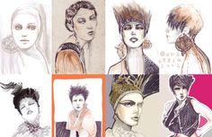 Fashion collage illustrations