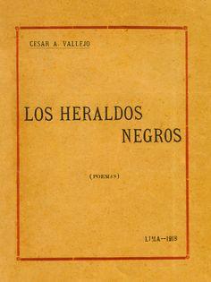 Los Heraldos Negros Portada del primer libro de César Vallejo
