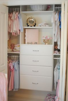 nursery closet; kinda looks like my closet design wise!