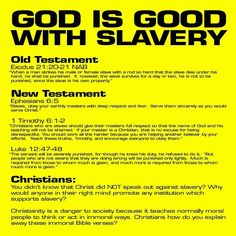 God is OK with slavery, both Old and New Testament. Anti Religion, Religion And Politics, Atheist Quotes, Religious Quotes, Love Moves, Cognitive Dissonance, Old And New Testament, Thing 1, Atheism