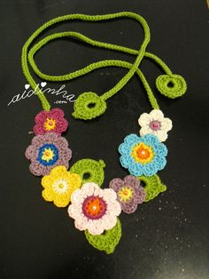 Full view of crochet necklace - Women Weaves Crochet Necklace Pattern, Crochet Jewelry Patterns, Crochet Flower Patterns, Crochet Bracelet, Crochet Accessories, Crochet Doilies, Crochet Flowers, Crochet Earrings, Crochet Bouquet