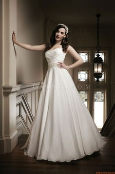 Glamouröse Herz-Ausschnitt Princess-stil Hochzeitskleider aus Perlenstickerei