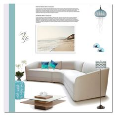 """Sea Life"" by aneetaalex ❤ liked on Polyvore featuring interior, interiors, interior design, дом, home decor, interior decorating, Nearly Natural, Dot & Bo, Clarion и Jennifer Umphress Studios"