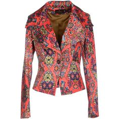 Vivienne Westwood Anglomania Blazer ($390) ❤ liked on Polyvore featuring outerwear, jackets, blazers, coral, vivienne westwood anglomania, collar jacket and single breasted jacket