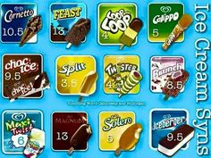 Ice pop and ice cream syns - Slimming World (Possibly American brands due to the Maxi Twist etc) Slimming World Syns List, Slimming World Sweets, Slimming World Lunch Ideas, Slimming World Syn Values, Slimming World Recipes Syn Free, Slimming Eats, Iceland Slimming World, Slimmers World Recipes, Sliming World