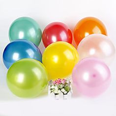 Wedding Décor Solid Color Round Ballon (set of 100) – USD $ 3.99