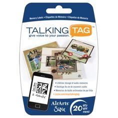 Sizzix Media - TalkingTag Audio Memory Labels, 20PK $19.99