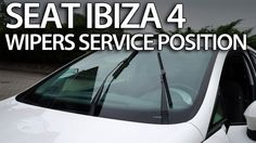 How to set wipers to #service position #Seat #Ibiza MK4 (replace wiper blades) #cars