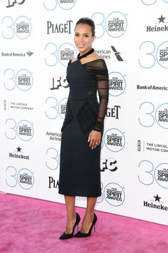 kerry washington in balenciaga at the 2015 independent spirit awards