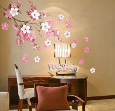 Flowers Butterfly Removable Wall Sticker Decal Art DIY Home Decor Wall Vinyl