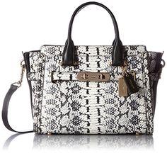 Coach Women's Color Block Exotics Coach Swagger LI/Black Satchel Handbag