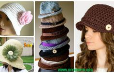 Crochet Women Sun Hat Free Patterns Instructions