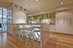 backlit island bench - Google Search Island Bench, Corian, Master Suite, Home Improvement, Table, Kitchen Inspiration, Furniture, Kitchens, Design