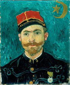 Portrait of Milliet, 1888, Vincent van Gogh, Kroller-Muller Museum.