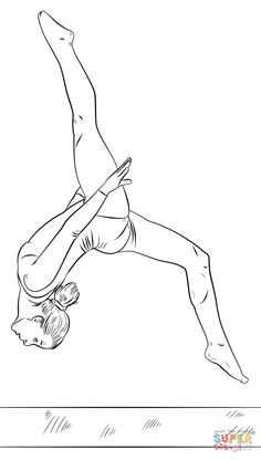 Gymnastics coloring page | 3rd birthday | Pinterest ...