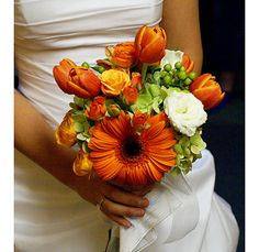 I really like this for my bouquet! I'm getting all the flowers from the Portland Flower Market, or from a peony farm next to my house, so whatever is cheapest and orange will probably be the best bet.