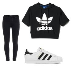 """""""Untitled #85"""" by amysonmaijah on Polyvore featuring adidas and Paige Denim"""