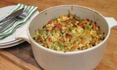 Chicken and asparagus pasta bake