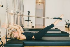 Leg Springs on the Pilates Tower at Karen Lord Pilates Movement - Tattoo MAG Pilates Training, Pilates Workout, Pilates Tower, Pilates Machine, Yoga For Stress Relief, Wednesday Workout, Pilates Reformer, I Work Out, Exercises