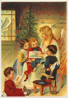 Free Floral Vintage Christmas Cards