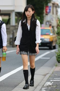Cute School Uniforms, Japanese School Uniform, Cute Japanese, Asian, Attitude, Bomber Jacket, Legs, Womens Fashion, Jackets