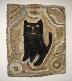 Hand Hooked Rugs :: Magdalina's Cat :: Hooked Rugs