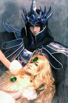 Zagato and Emeraude (Magic Knight Rayearth), cosplayed by Est