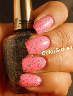 MILANI Spring 2014 collection : Swatches and Review (PART I) Sugar Rim (over Popping Pink)