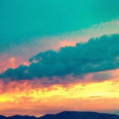 Sunset in pocatello idaho