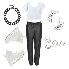 A fashion look from March 2015 featuring white crop top, Topshop activewear pants and platform sneakers. Browse and shop related looks. Platform Sneakers, Marc Jacobs, Active Wear, Forever 21, Topshop, Fashion Looks, Crop Tops, Polyvore, Shopping