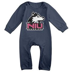 JJVAT Northern Illinois University Long Sleeve Play Suit For 624 Months Boys  Girls Size 6 M Navy -- Find out more about the great product at the image link.